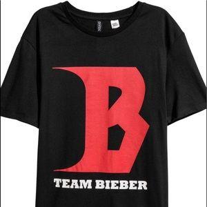 Team Bieber T-Shirt NWOT